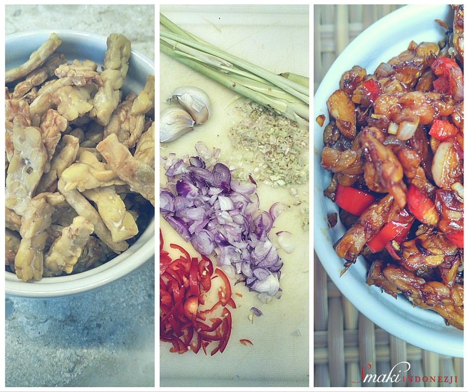 Tempeh Goreng Kecap Manis, Smaki Indonezji, Tempeh Smażone w Słodkim Sosie Sojowym - Kuchnia Indonezyjska