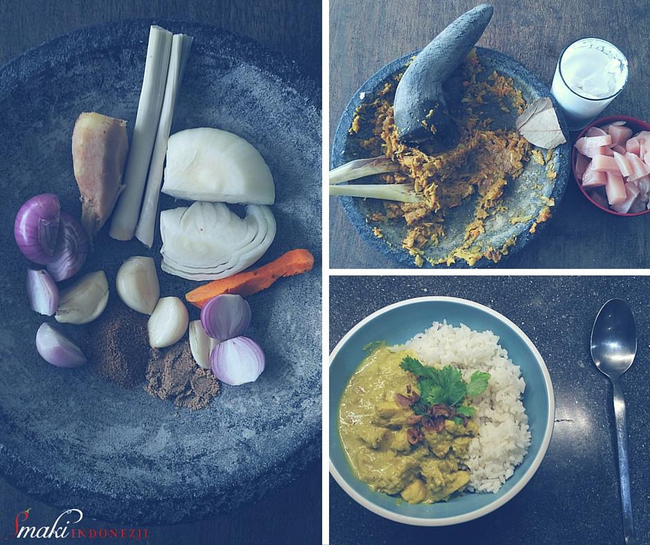 Smaki Indonezji - Indonezyjskie Curry z Kurczaka - Kare Ayam
