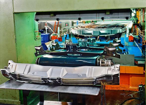 Detail of Industrial press for sheet met