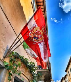 Flags in Greve in Chianti