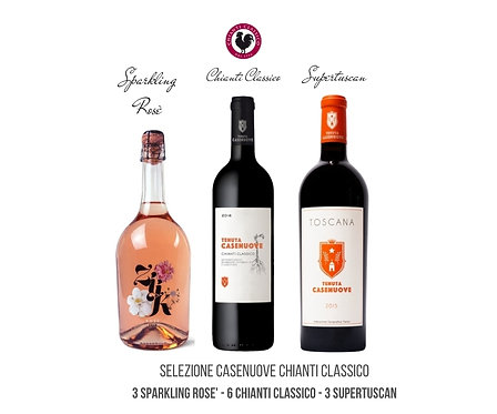 Selection of 12 bottles CASENUOVE in Chianti Classico