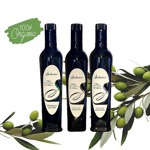 Salustri 3-bottle selection Organic Extra Virgin Olive Oil