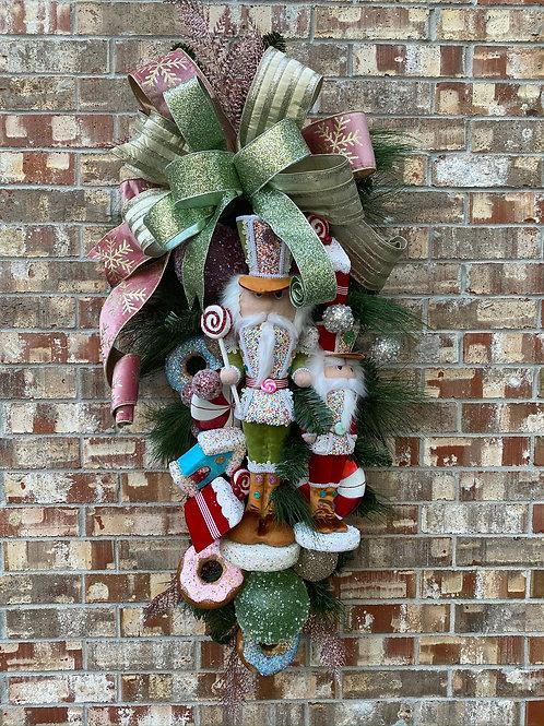 6. Nutcracker Christmas candy theme swag