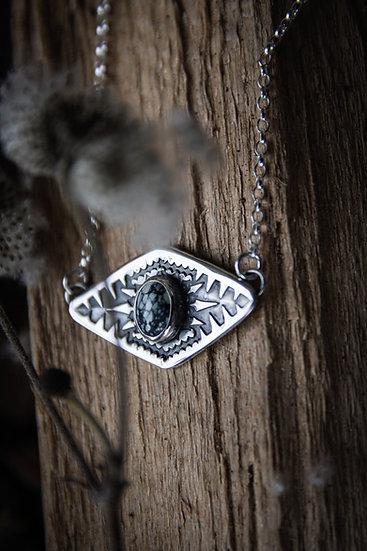Stamped new lander necklace