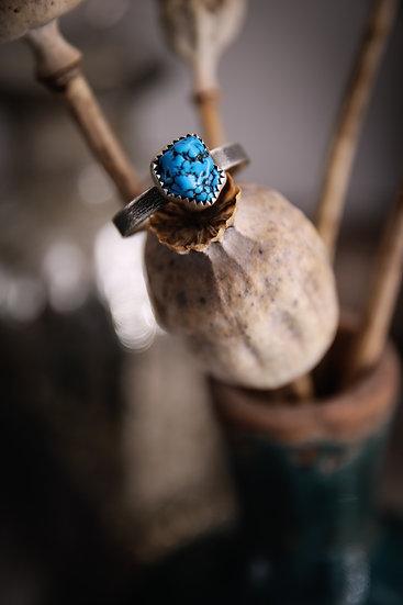 Size 6.75 • Turquoise stacking ring