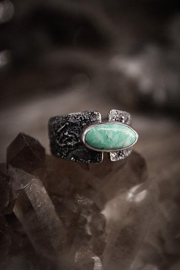 Size 11 * Broken Arrow Variscite Ring