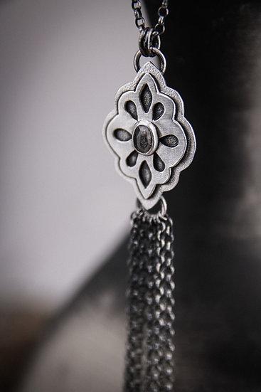 Herkimer Diamond Tassel necklace