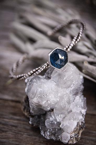 Teal Kyanite hexagon Bracelet