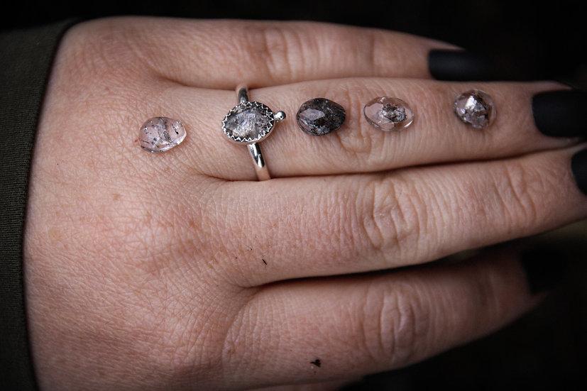 **Made to order** herkimer diamond ring