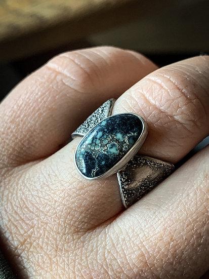 Size 7 • poseidon variecite Rustic Goddess ring