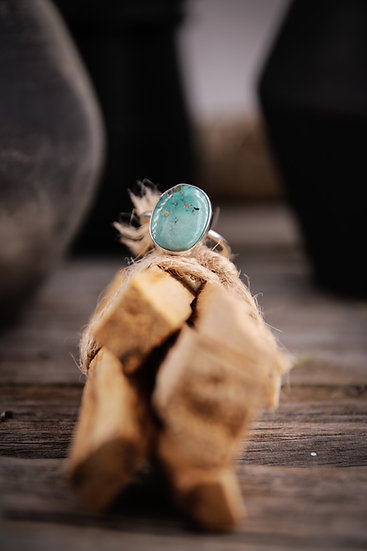 Size 6.5 • Turquoise stacking ring