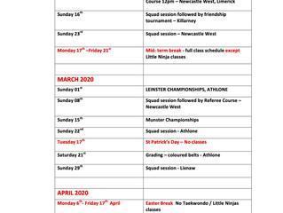 Annual Calendar 2020
