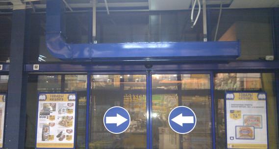 """Монтаж вентиляции, гипермаркет """"Лента"""", г. Новосибирск, ул. Большевистская"""