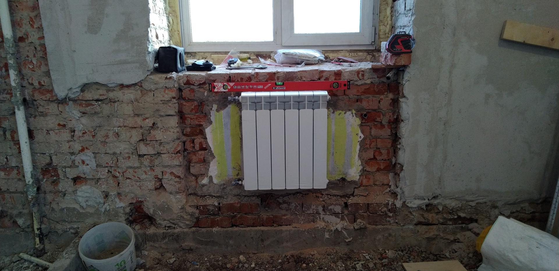 Замена батарей на радиаторы Rifar, г. Новосибирск