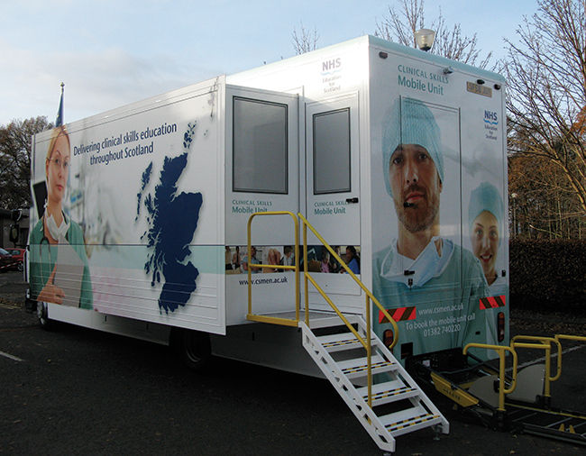 Clinical Skills Managed Education Network; launch of the mobile teaching unit at Stirling University