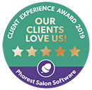 Phorest Client Experience Award badge