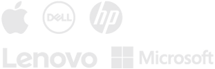 Apple, Dell, HP, Lenovo and Microsoft logos