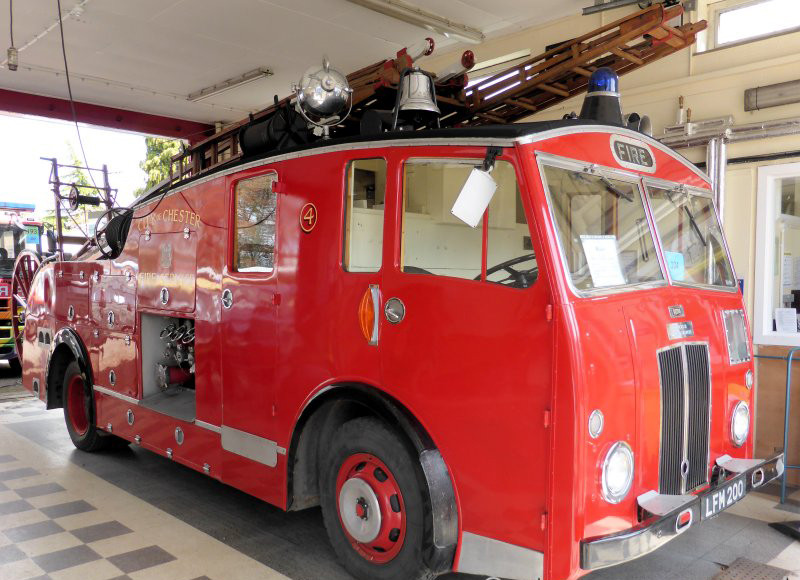 Vintage fire engine at Dundee Museum of Transport