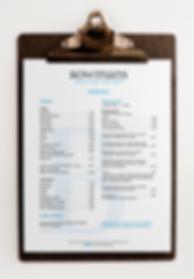 Bowmans Coffee House menu design
