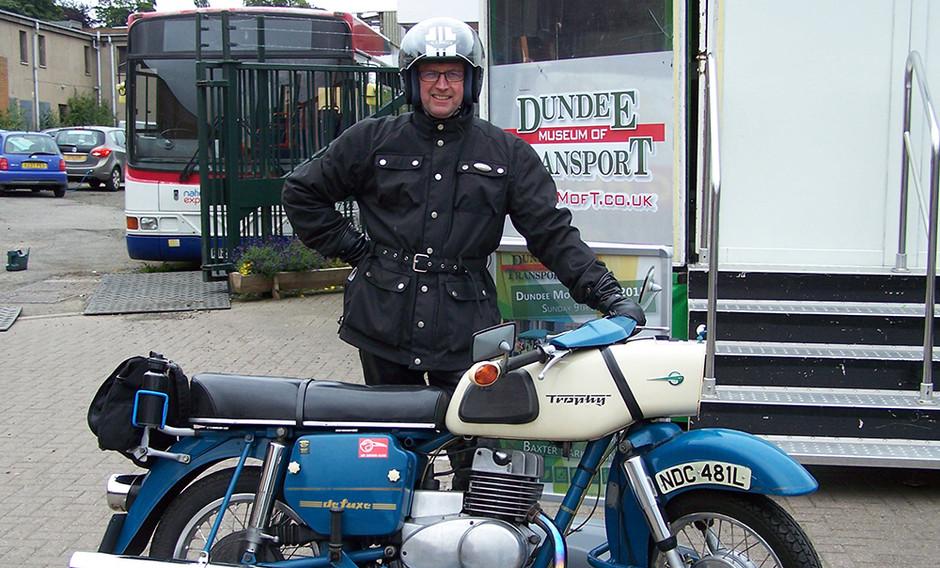 Trophy motorbike