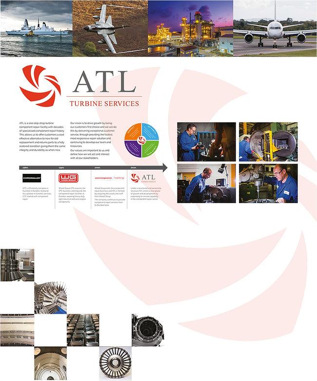 ATL Turbine Services interior information panel