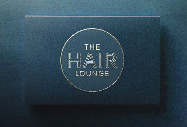 Hair Lounge logo and card design by The Maltin House Design Studio