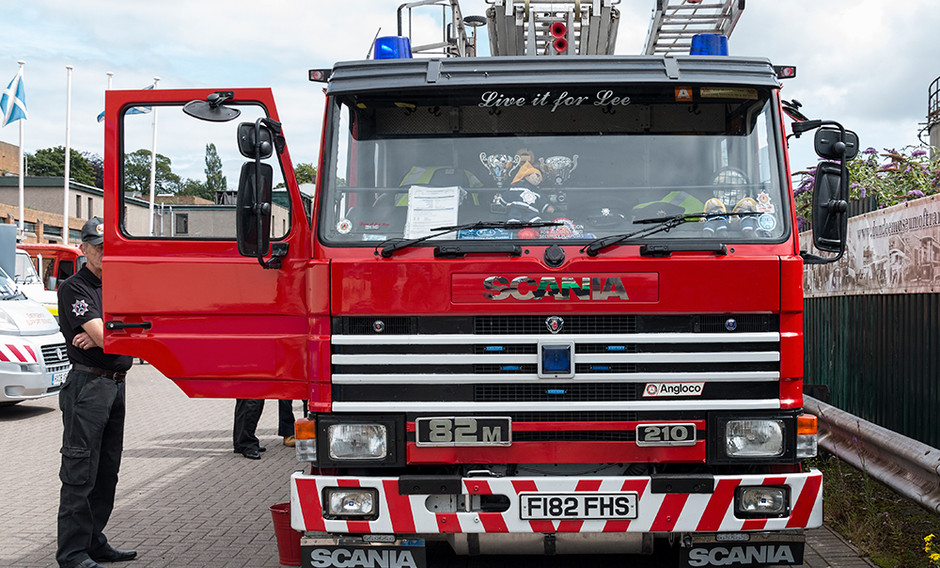 Scania Fire Engine front view