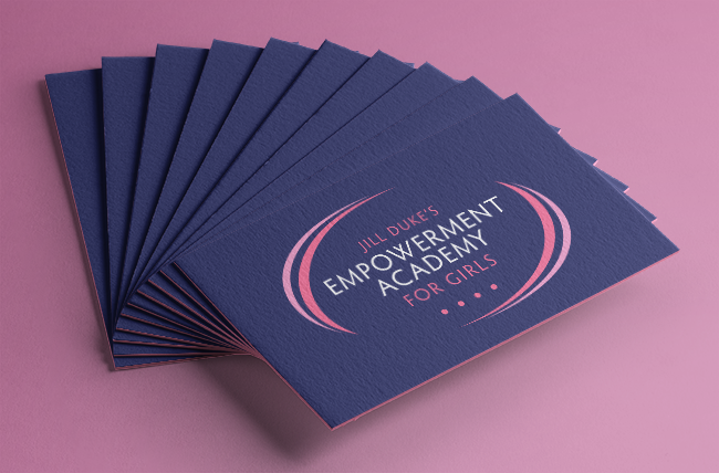 Busines cards fr Jill Duke's Academy for Girls