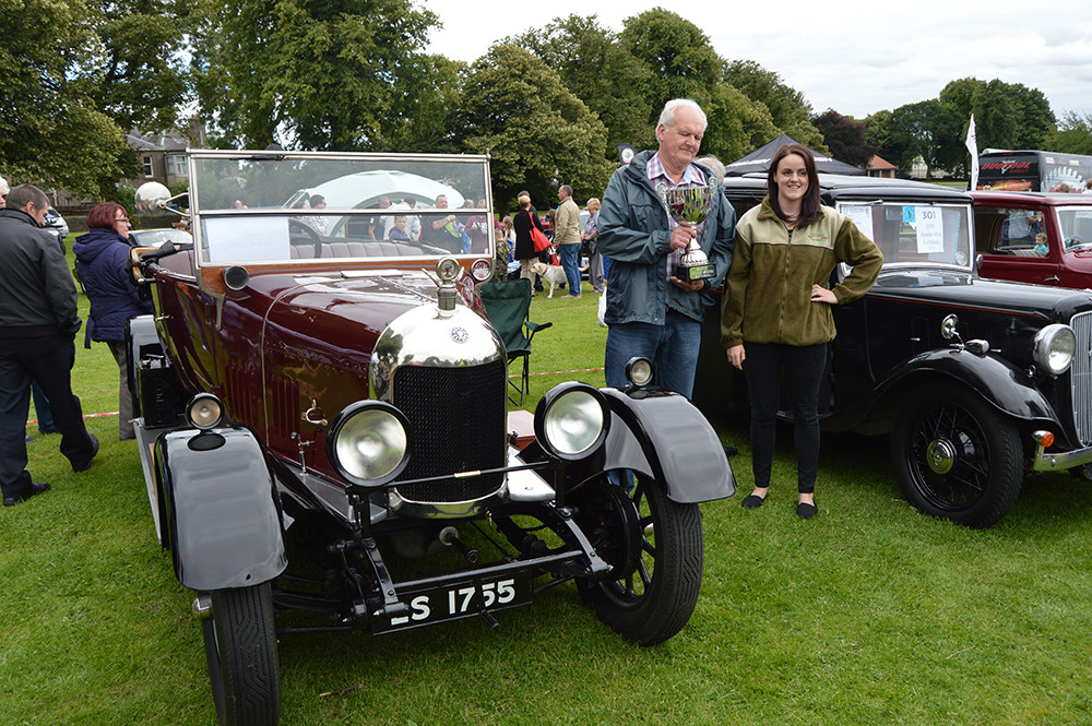 Presentation of trophies at Dundee Motor Show