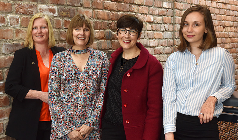 Photograph by Simon Jauncey: Debbie Hutchison, Julie Barclay, Wendy Maltman, Iona Sorbie