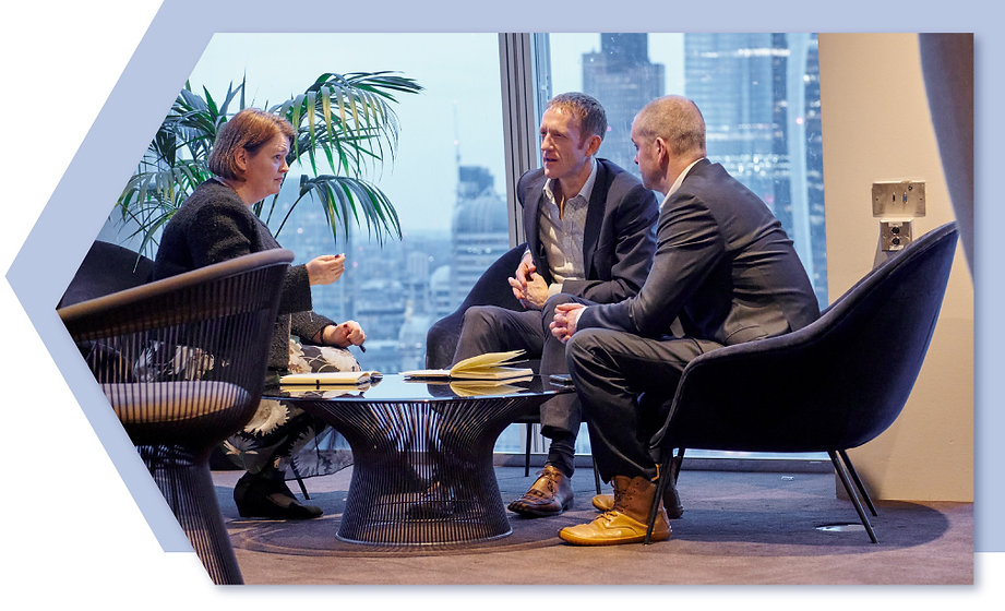 Principle One directors in a meeting at the Shard