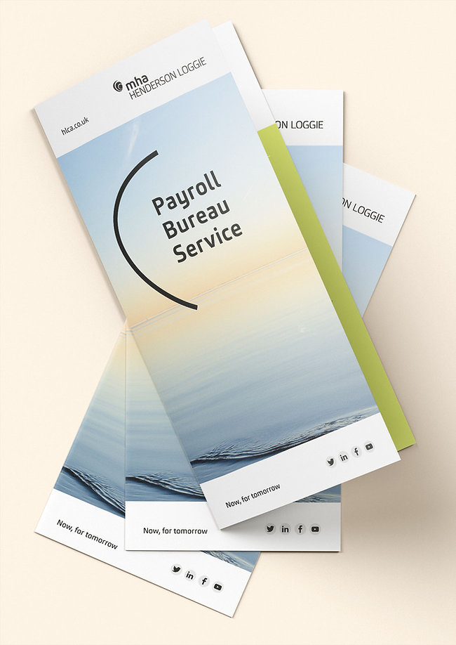 MHA Henderson Loggie Payroll Bureau leaflet