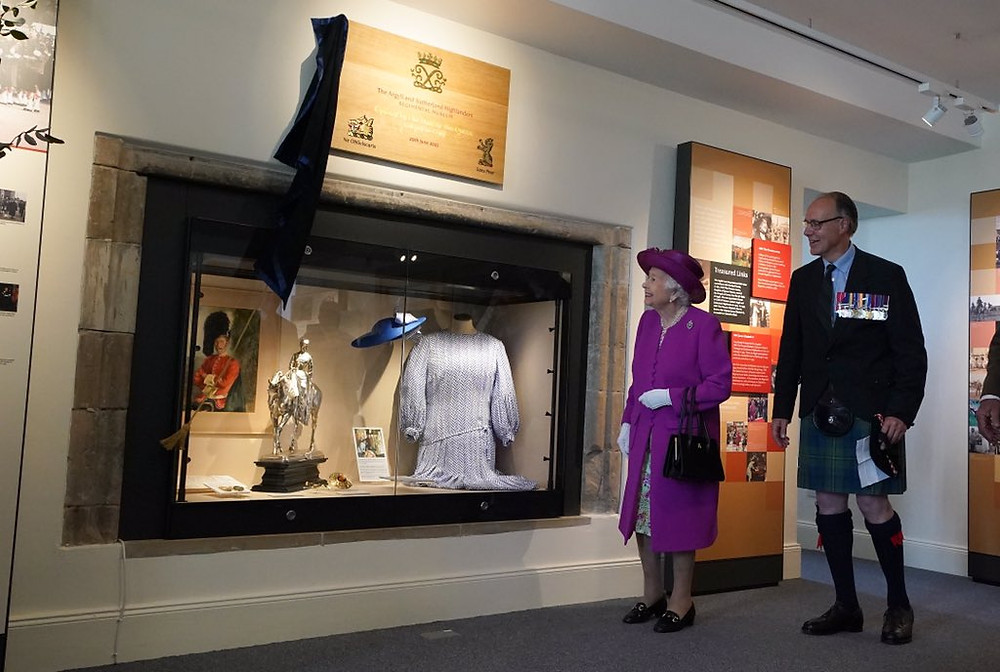 HRH Queen Elizabeth opening The Argyll and Sutherland Highlanders Museum at Stirling Castle