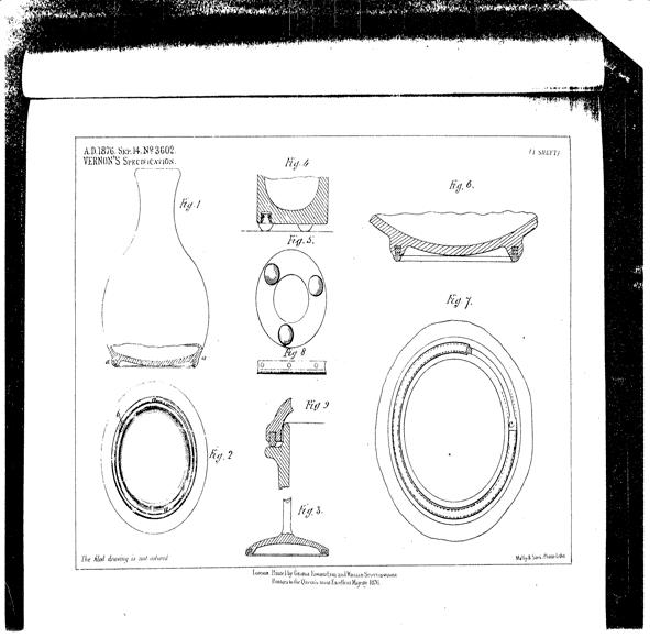 Vernon's patented tableware