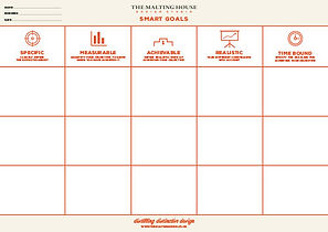 The Malting House Design Studio Smart Goals worksheet