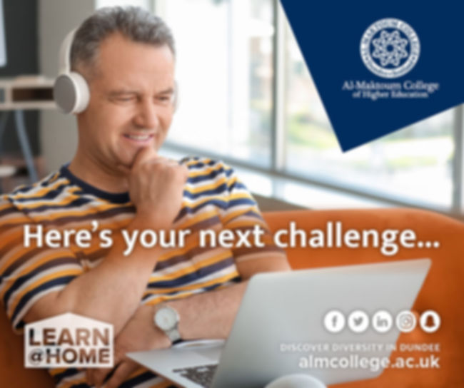 Learn Arabic at home with Al Maktoum College - Digital marketing by The Malting House Design Studio