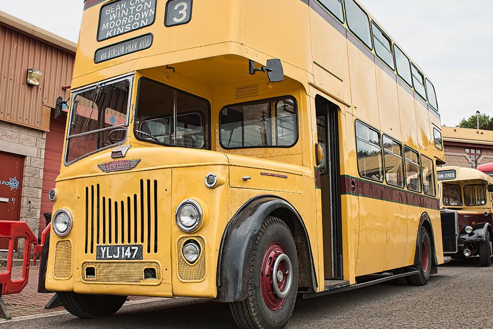 Yellow Leyland bus