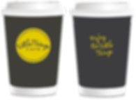 Little Things Cafe coffee cups