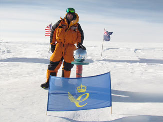Black Reiver proudly flies the Queens award for Industry at the South  Pole along with the Black Reiver Flag.