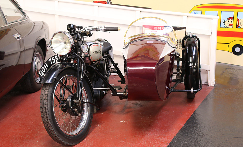 Motorbike and side car