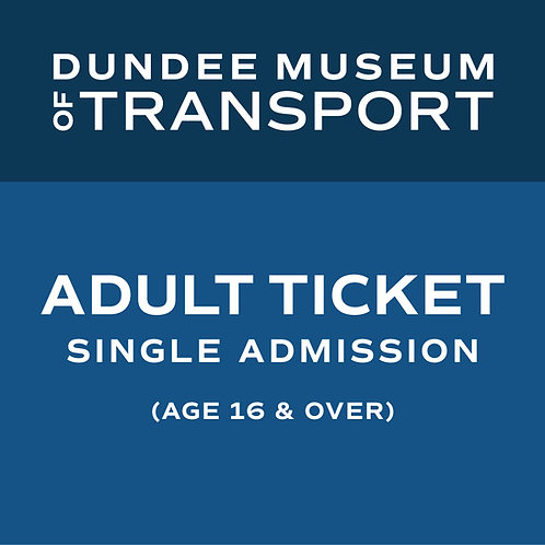 Adult Single Admission Ticket (age 16 & over)