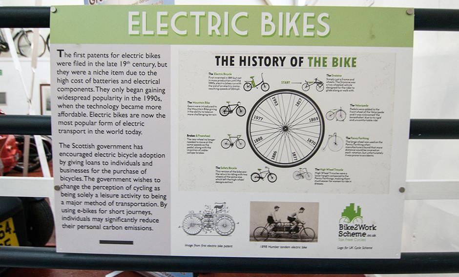 Electric bike poster