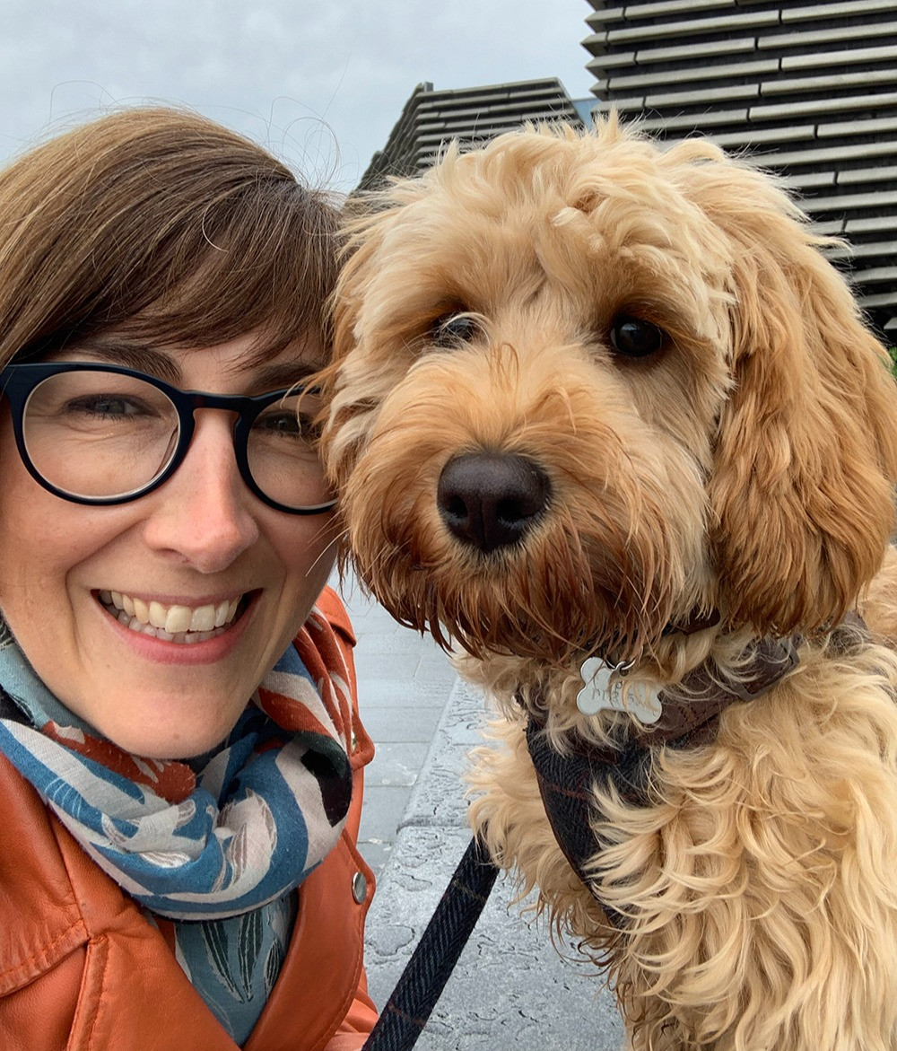Wendy and Beau at V&A Dundee