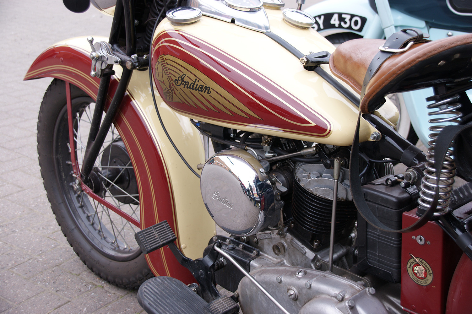 Vintage motor bikes