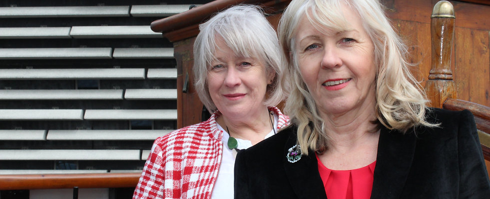 Feisty Women Trustees Ann Porter and Anne Rendall on RRS Discovery, Dundee