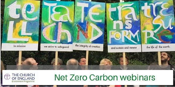 Net zero carbon webinars