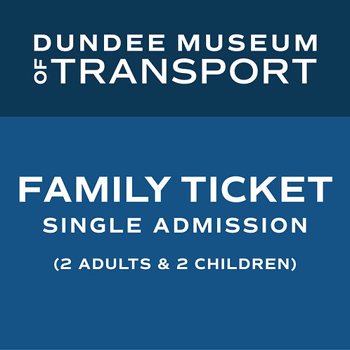 Family Single Admission Ticket with Gift Aid donation (2 adults and 2 children)