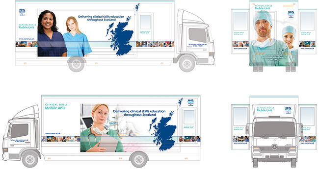Concept visuals for the NHS Clinical Skills mobile teaching unit