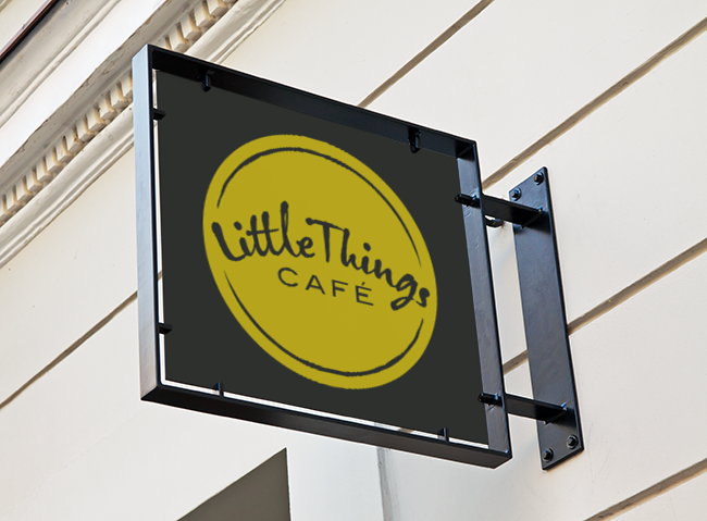 Little Things Cafe, Reform Street Dundee - signage