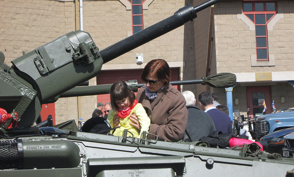 Military vehicle day at Dundee Museum of Transport